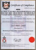 Water Care New Iso 9001-2008 Certificate