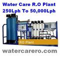 Water Care Water Purifier Reverse Osmosis System 250Lph To 50,000 Lph